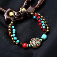 Nepalese Pearl traditional handmade braiding Bracelet - MCS0212