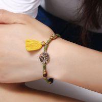 Life tree tassels handmade braiding bracelet