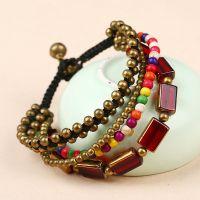 Red agate BOHO handmade braiding Bracelet - MCS0181