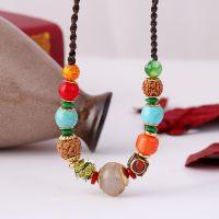 Boho style Agate Rudraksha Necklace - MCX073