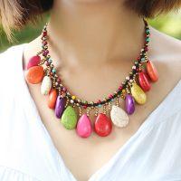 Traditional boho style beading necklace - MCX012