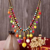 Traditional boho style beading Necklace - MCX005