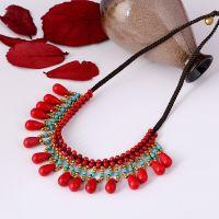 Traditional boho style beading necklace - MCX017