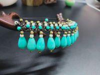 Traditional boho style turquoise choker - MCX050