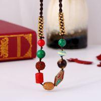 boho style Nepalese Pearl Rudraksha necklace - MCX066