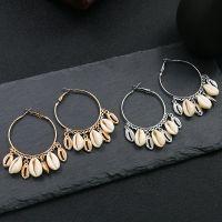 Sea shell big circle Earrings - HQEF-0059