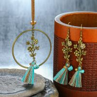 Bohemian tassel dream catcher Necklace and Earrings sets - E0015
