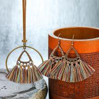 Bohemian tassel Necklace & Earrings sets - HQEF-0104