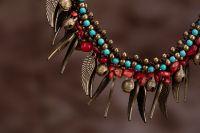 Traditional boho style beading Necklace - MCX019