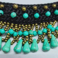 Traditional boho style turquoise choker - MCX0195