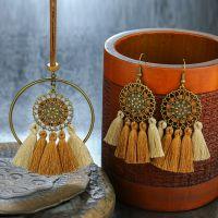 Bohemian tassel dream catcher Necklace & Earrings sets - E0015