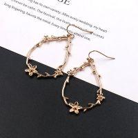 Alloy flower earrings - HQEF-0918