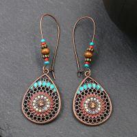 Vintage Boho Teardrop earrings - HQEF-1267