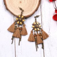 Vintage tassel earrings - HQEF-0092