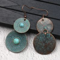 Vintage alloy earrings - HQEF-0658
