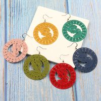 Colorful Stamping earrings - HQEF-1802