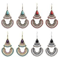 Vintage alloy earrings - HQEF-0604