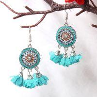 Vintage Chiffon Flower Earrings - HQEF-1230