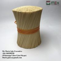 Bleached/White Color Round Bamboo Sticks