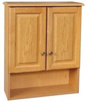 Bathroom Wall Cabinet White Two Door Two Shelves