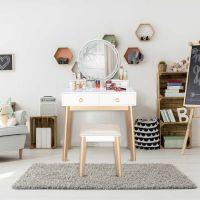 Dressing Table With Mirror Modern Vanity Table Bedroom Storage  Bedroom Furniture Set Vanities Drawers