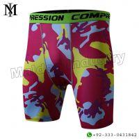 Men's Sublimation Printing Compression Running Shorts