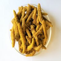 Whole natural dried raw Turmeric finger roots Curcuma longa rhizome for food supplements