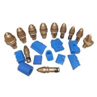 Conical pick tools carbide drill auger teeth round shank cutter bits B47K22H