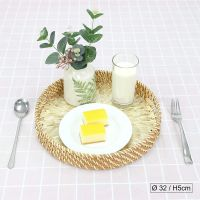 Vietnam Eco-friendly HIGH QUALITY Unique Decor Round SERVING TRAY Mother Of Pearl Rattan Tray