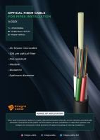 Optical fiber cables for pipes installation