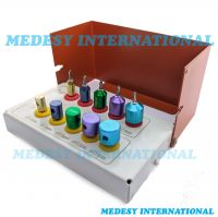Dental Drill Implants Guide and Positioning Kit Titanium 10 PCS with Bur Holder