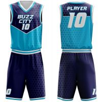 Customized basketball uniforms with player's names and numbers