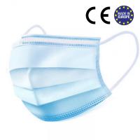 Medical 3 ply masks. BLUE. CE-certified.