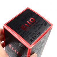 inayon Custom Logo Red White Paper Box for Cosmetic Packaging Perfume Craft paper Spot UV Red Foil Hot Stamping Finish