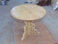 Teak Wood Round Coffee Tea Table