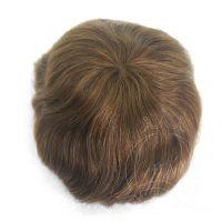 fine welded mono top hair toupee 4-6inch hair 8x10� light brown color light density 120% men's toupee