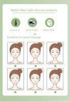 Natural green jade roller for facial massage
