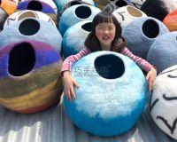 factory, Wool felt cat nest, animal house, pet supplies, 100% wool handmade
