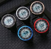 Round simple digital watch outdoor waterproof sports watch student youth male watch cross-border hot sale