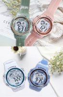 New children's luminous electronic watch student outdoor waterproof sports watch multi-function ins wind watch