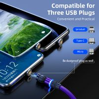 Promotional Gift Mobile Phone 540 Degree Swivel Magnetic USB Charger Cable for iphone android phones