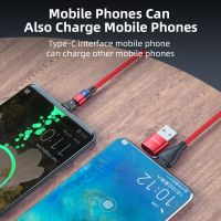 Festival Gift 180 Degree Swivel Mobile Phone PD 60W Magnetic USB C TypeC Charger Cable