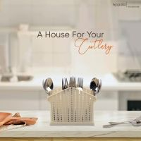 Appollo houseware Crown Cutlery Stand high quality cutlery stand for kitchen washable easy to handle durable plastic stand for kitchen, unbreakable reusable plastic stand for cutlery, spoon and fork hanger, BPA free hanger.