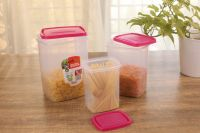 Appollo houseware Snack jar 3pc Set (1 Litre, 2 Litre & 3 Litre) best quality vertical snack jar high quality light weight snack jar for refrigerator, microwave and storage easy to handle durable air tight food, unbreakable reusable easy to carry stac