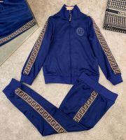 Wholesale OEM Fitted Sweatsuit Tracksuit Zipper Hooded Jogging Men Jogger Track Suit