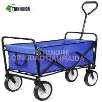 Collapsible Utility Portable Steel Frame Compact Folding Garden Shopping Hand Wagon Cart TC1011