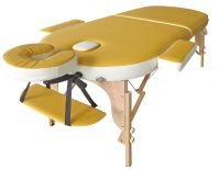 3-section portable wood  massage table, 3-section portable massage bed