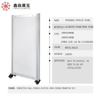 Portable Folding Display Panel, non-assembly Display Stand With Wheels