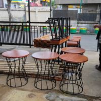 Wood chair, table, handicraft, rug, kitchen ware