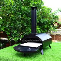 Drawer type black spray process outdoor gas pizza oven
